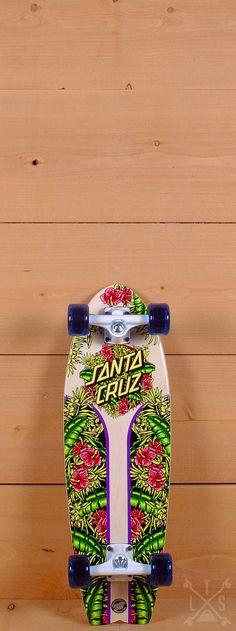 "Santa Cruz Prebuilt 27"" Island Dot Land Shark Cruzer Skateboard"