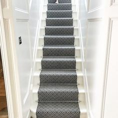 Another stunning stair carpet installation from Matt Britton Carpets and a very happy client! Stair Carpet, Carpet Installation, Carpets, Blinds, Interiors, Curtains, Interior Design, Happy, Home Decor