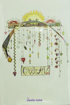 What a beautiful, delicate interpretation of a Zenspirations Dangle Design! Well done!