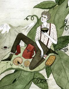 Yelena Brysenkova, Jack in the Beanstalk (and having lunch?)