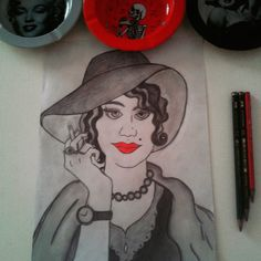 Blood lips - Utilizando a escala p&b e com tom de vermelho busquei representar a mulher burguesa e sua personalidade marcante.