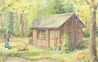 How to build a temporary micro house.  You can live like Thoreau and create your own Walden by designing and building your own rustic microhouse. Perhaps you'll just want to dream about doing so. Be sure to check out the Image Gallery along the way to see some helpful illustrations.