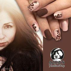 "abc nailstore präsentiert:  Azra's Fashion Day: brown eyed girl Nailart ""marvellous"" #nails #naildesign #nailart"