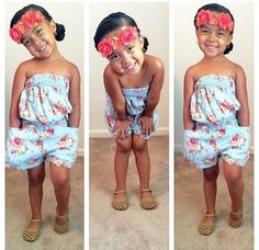 hair accessory girl toddler kids fashion romper floral flower print romper flower crown girly blouse