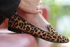 leopard loafers