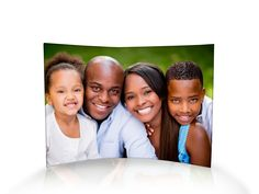 """These 10"""" x 7"""" free-standing, curved acrylic prints create vivid, lasting decor. Place your acrylic photo in the light and watch as our patented fusion process works in tandem with your image, showcasing all the colors of your photo in a dazzling display. Great for collecting!"""