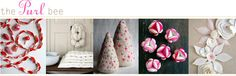 Really sweet felt, knit projects that I am sure you can substitute with a glue gun!