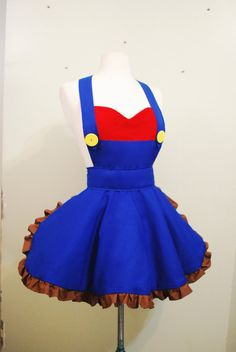 Hey, I found this really awesome Etsy listing at https://www.etsy.com/listing/191562465/super-mario-apron