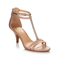 "Vince Camuto ""Mitzy"" Leather Mid-Heel Dress Sandal"