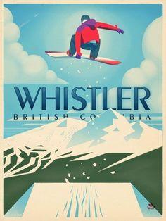 Whistler, British Columbia travel tag