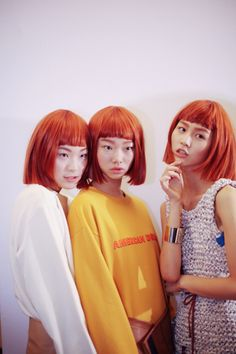 koreanmodel:  Lee Eun Hae, Bae Yoon Young and Eum Ye Jin at Low Classic Spring 2015 Seoul Fashion Week shot by Jang Duck Young