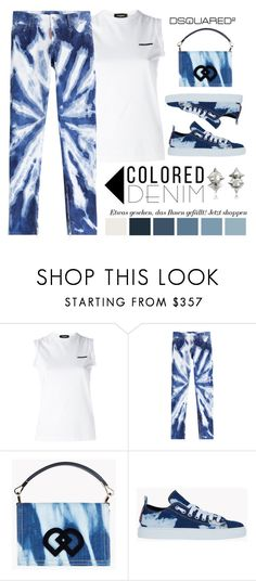 """""""DSQUARED 2 Colored Denim"""" by conch-lady ❤ liked on Polyvore featuring Dsquared2, dsquared2, coloreddenim and dsquared2coloreddenim"""