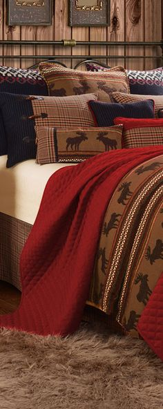 HiEnd Accents Rustic Moose or Bear Bedding Collection