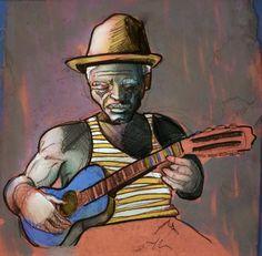Samba de Roda : bem antigo, eram croquis esquecidos que depois pintei.