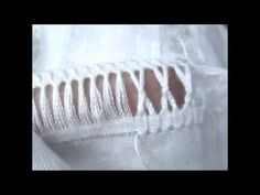 This video is a tutorial of the Punto Antico filling stitch known as the Wheel Filling. It is used in cutwork areas and has a beautiful texture. Note that at about of this video, I say Hardanger Embroidery, White Embroidery, Machine Embroidery, Embroidery Stitches Tutorial, Embroidery Designs, Hem Stitch, Daisy Painting, Drawn Thread, Beautiful Textures
