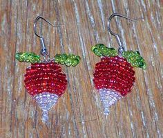 Luna's Radish Earrings - LOVED making these! Final product is awesome :)