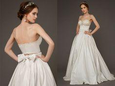 DELPHINIA - Two piece wedding dress, Wedding dress Separates, Wedding crop top corset, crop top wedding dress, embroidered Lace wedding top