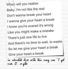 Songs like break your heart