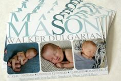 Make your own birth announcement