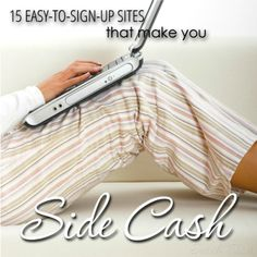 If you're looking to make extra cash from home, these sites will become your best friend. They are incredibly easy to join and you can make money right away! 15 easy-to-sign-up sites that make you side cash. #makemoneyonline