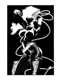 Sin City: Nancy Callahan by Frank Miller Comic Book Artists, Comic Artist, Comic Books Art, Design Poster, Design Art, Sin City Comic, Frank Miller Art, Black And White Comics, Bd Comics