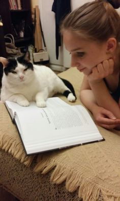 Cat does not allow me to read