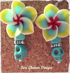 Check out this item in my Etsy shop https://www.etsy.com/listing/231853146/exotic-flowerslight-blue-skulls