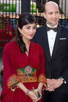 الامير محمد علي ابن الملك احمد فؤاد الثاني جده الملك فاروق و زوجته الاميرة نوال حفيدة ملك افغانستان