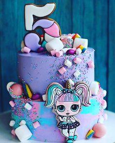 Ideas Doll Lol Birthday Party For 2019 Birthday Cakes Girls Kids, Doll Birthday Cake, Funny Birthday Cakes, Girl Birthday, Funny Cake, 6th Birthday Parties, Girl Party Foods, Lol Doll Cake, Surprise Cake