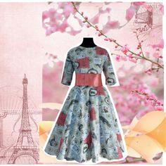 Vestido estilo vintage by petits-rois on Polyvore featuring moda and vintage