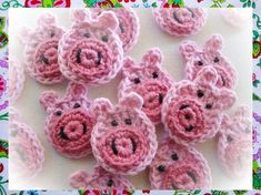 Pigs Appliques Crochet Pattern by wonderfulhands on Etsy