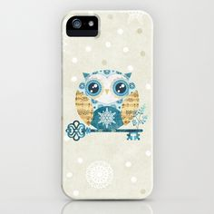 Winter Wonderland Owl iPhone & iPod Case by Sandra Vargas - $35.00
