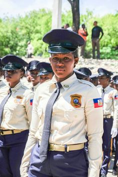 Woman officers in Haiti