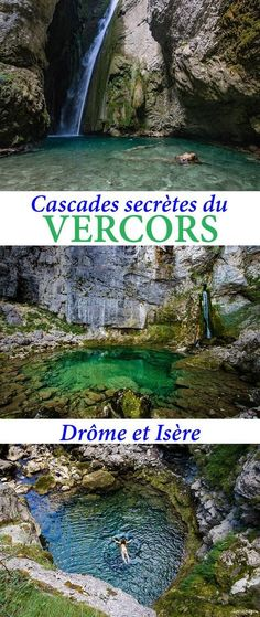The Vercors and the country of Royans over water: the most beautiful waterfalls of Vercos, underground rivers, secret walks and other things to see in # Drôme and # Isère. Road Trip France, France Travel, Week End France, Travel Around The World, Around The Worlds, Voyage Europe, Destination Voyage, Beautiful Waterfalls, Europe Destinations