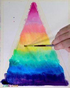 Rainbow Watercolor Pyramid