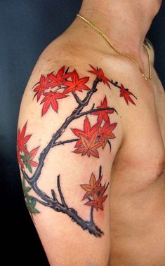 Leaf tattoos can represent one's journey and the cycle of life. Learn about leaf tattoos, leaf tattoo meanings, leaf tattoo ideas, and view dozens of leaf tattoo designs. Celtic Tree Tattoos, Tree Tattoo Men, Tree Tattoo Designs, Tattoo Ideas, Japanese Tattoo Symbols, Japanese Tattoo Designs, Gakkin Tattoo, Tattoos For Guys, Cool Tattoos
