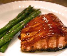 Slather Honey Teriyaki Sauce with abandon on salmon for a five-star dish.