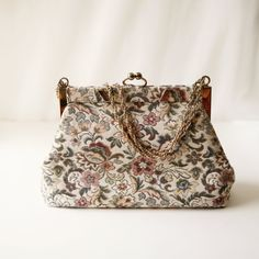 Vintage tapestry purse-very cute