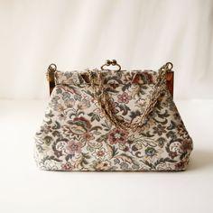 Vintage tapestry purse-very cute
