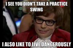"""Livin' on the edge"" I Rock Bottom Golf #RockBottomGolf"