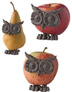 Owl fruit decorators
