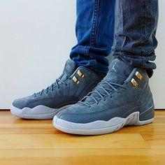 91bf2a0276a6c3 Go check out my Air Jordan 12 Retro Dark Grey on feet channel link in bio