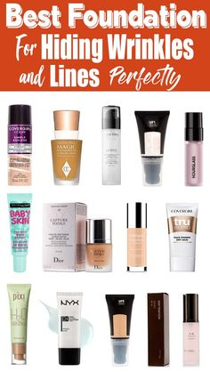 How To Choose Foundation Makeup Products For Wrinkles Uk Cosmetic & Makeup best foundation to hide w Best Drugstore Makeup, Makeup Dupes, Makeup Cosmetics, Best Makeup Products, Skin Products, Beauty Products, How To Choose Foundation, Best Foundation, No Foundation Makeup