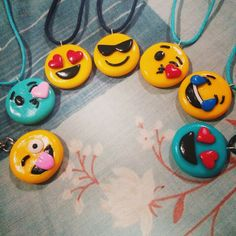 Polymer Clay Emoji Necklaces