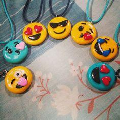 Polymer Clay Emoji Necklaces