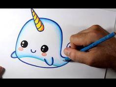 Como Desenhar Baleia Kawaii Passo A Passo Youtube Com Imagens