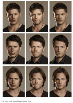 supernatural face swap!! This just proves how hot Jensen is. No matter what he looks fabulous.