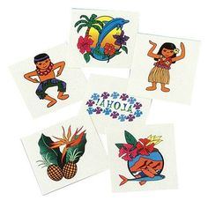 US Toy Company 248 Luau Tattoos, 144-Pack by US Toy Company. $14.40. Compliant with FDA tests and regulations.. Washes off with soap and water.. Assorted hula girl, aloha, dolphin, hibiscus, bird of paradise designs.. 1-1/2 Square.. Temporary.. This luau temporary tattoo is a fun addition to a party favor bag. Apply the tattoo with water and remove by rubbing off. U.S. Toy Exclusive! 144 Tattoos per unit. Trying to find the right theme for your next party? Try...