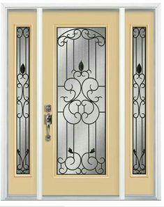 Grill Door Design, Door Gate Design, Front Door Design, Wrought Iron Decor, Wrought Iron Gates, Patio Doors, Entry Doors, Steel Security Doors, Window Security