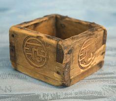 Antique Japanese Happiness Box – Wooden Fuku Masu